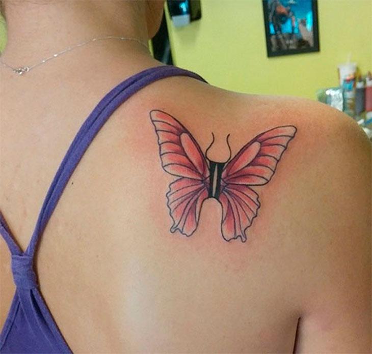 Символ Близнецов с крыльями бабочки