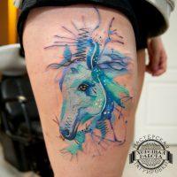 Синяя голова лошади