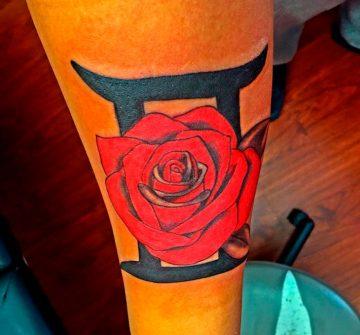 Знак Близнецы и роза