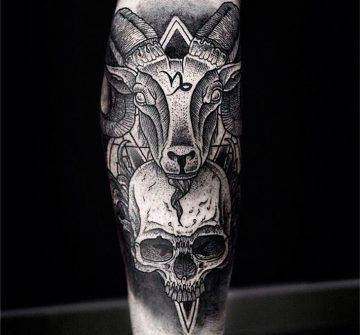 Козерог и череп от Даниэля Мейера