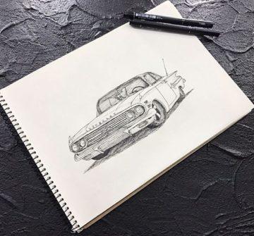 Эскиз Chevrolet Купе
