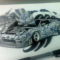 Японская машина и дракон