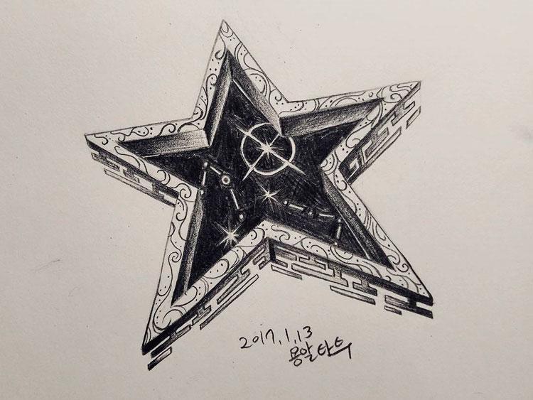 Эскиз звезды