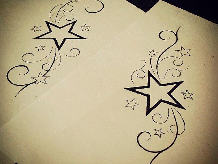 Звезды с узорами
