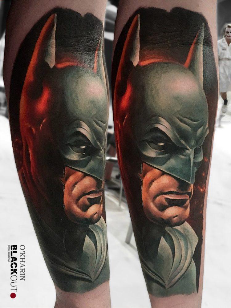 Реалистичная тату Бэтмена