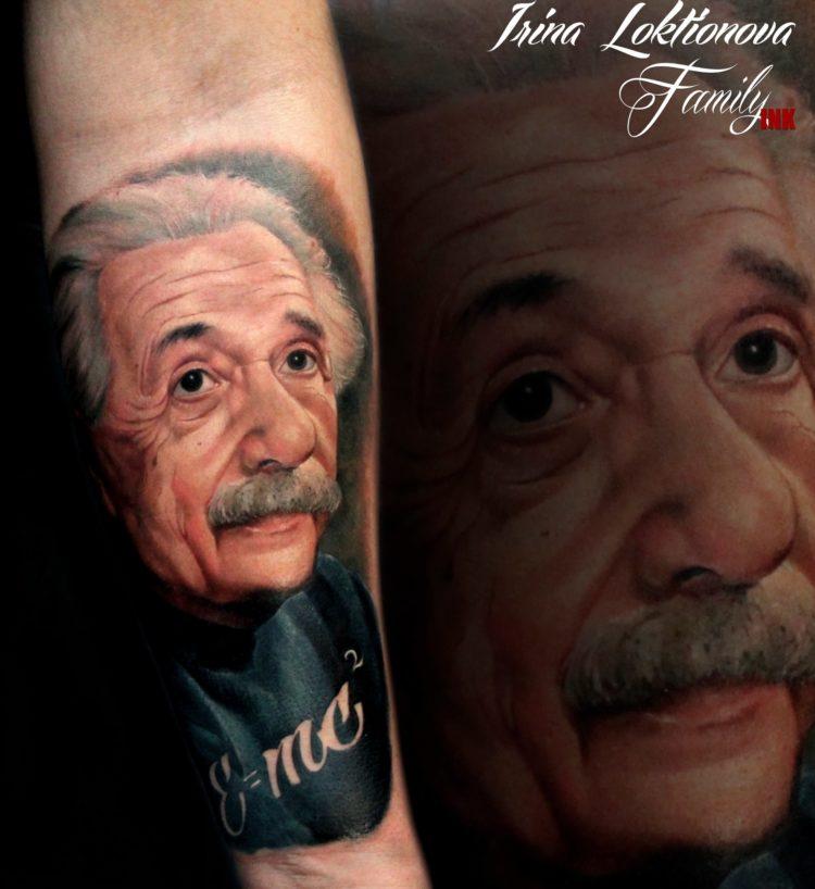 Реалистичный портрет Альберта Эйнштейна