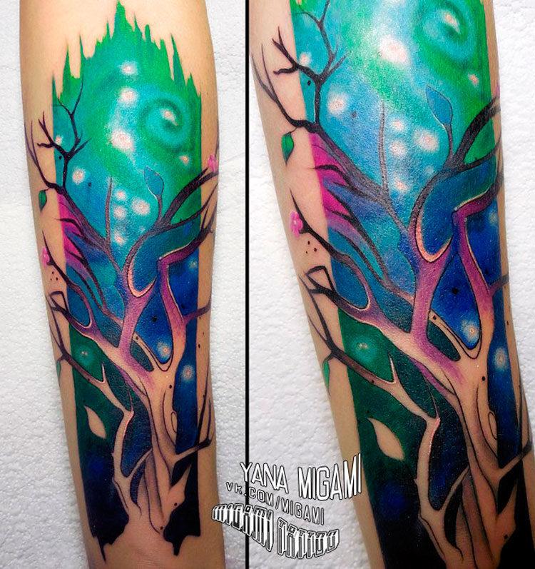 Акварельное дерево