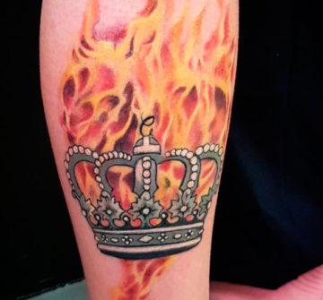Корона с огнем