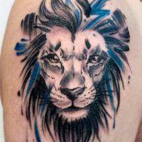 Лев на плече, brushwork