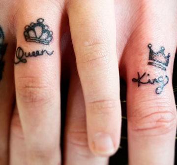Парные короны на пальцах