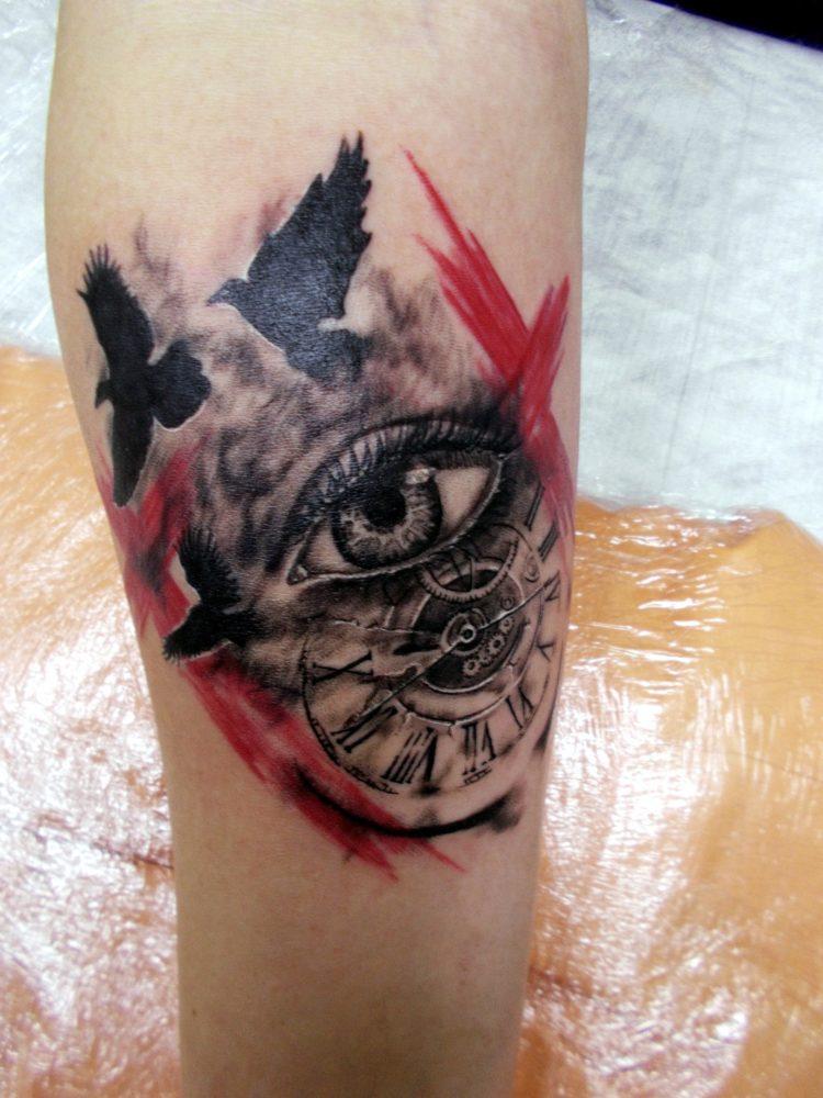 Глаз, часы, птицы, Трэш-полька