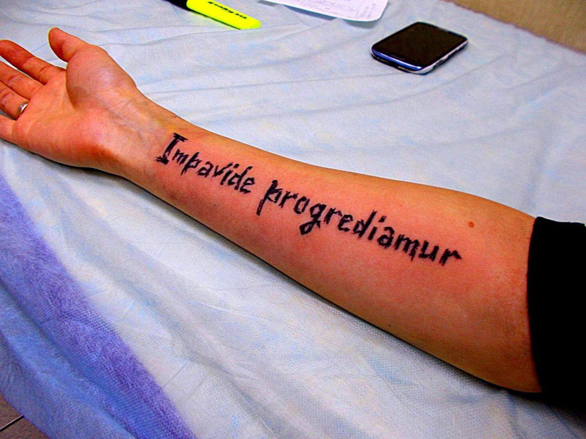Фото надписи на латинском для тату