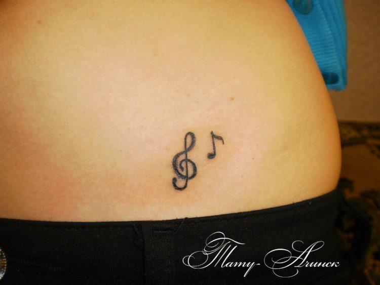 Нота и скрипичный ключ