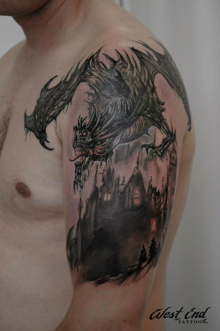 Дракон на плече