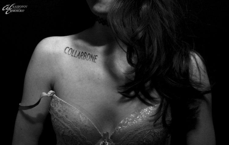 Надпись на ключице Collarbone