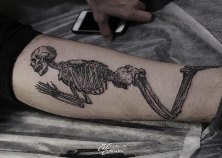 Скелет, black&grey