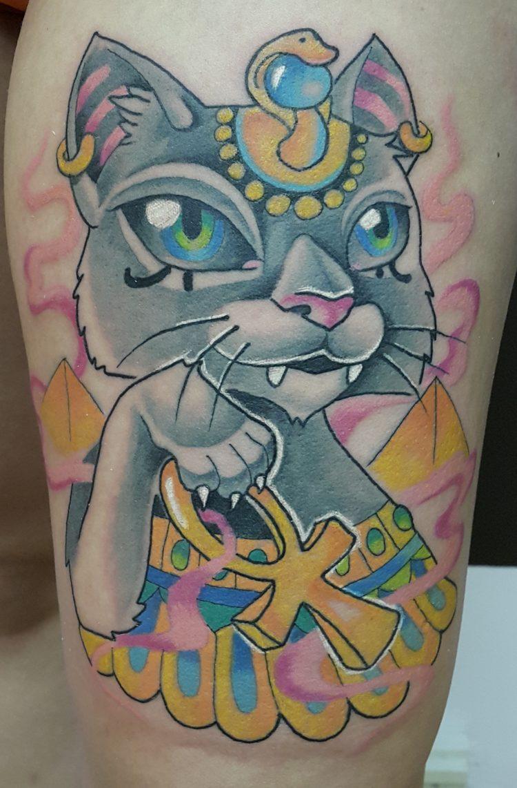 Татуировки египетские кошки фото