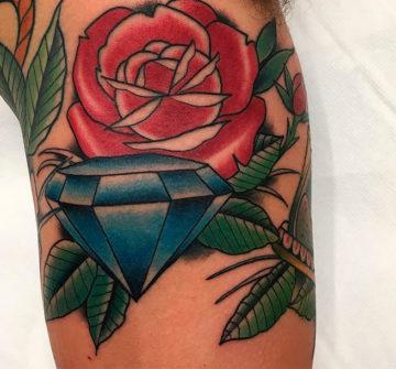 Алмаз и роза