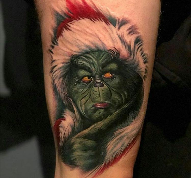Татуировка Гринч - похититель Рождества