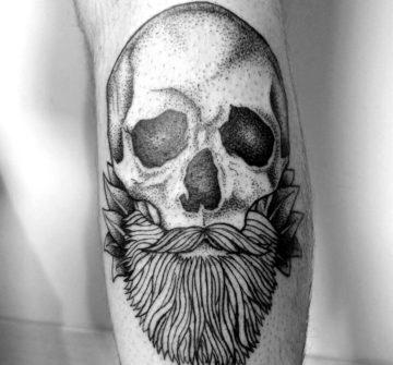Тату бородатый череп