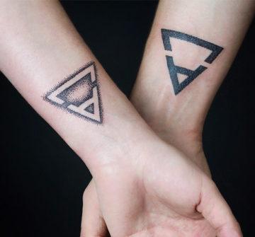 Парные тату треугольники