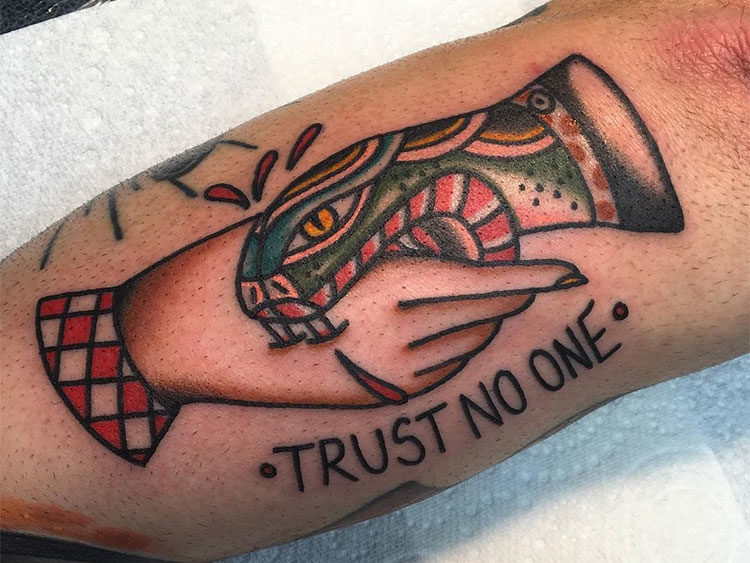 for Trust no one tattoo