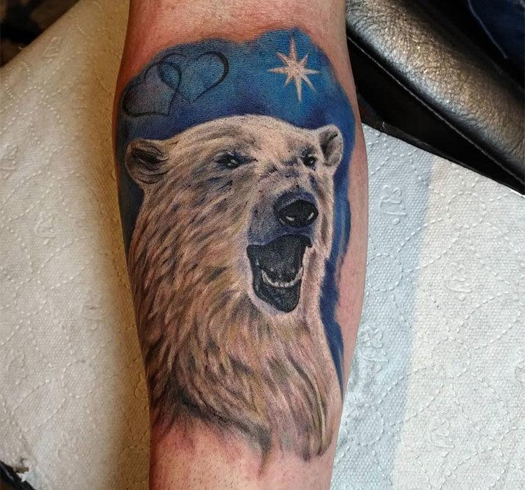 данном картинки наколки с белым медведем фото горы