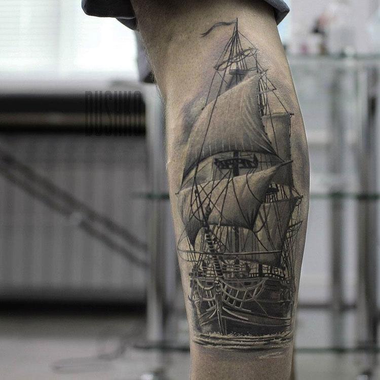 фото татуировок корабль выбрала