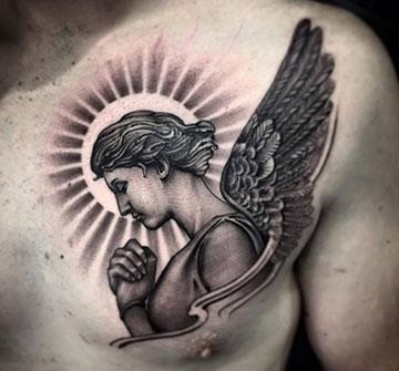 Фото и Значение тату Ангел Хранитель