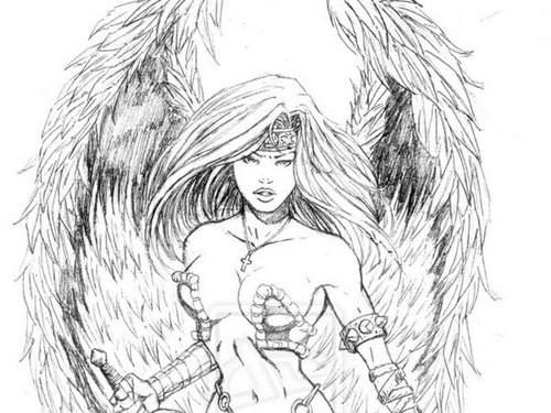 angel-warrior-tattoo-design