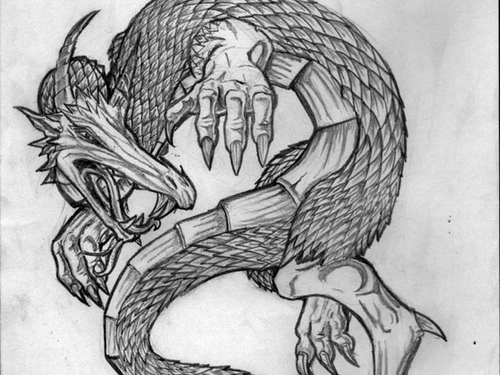 dragon-tattoo-sketch