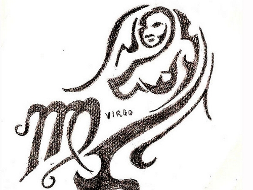 virgo-tattoo-sketch