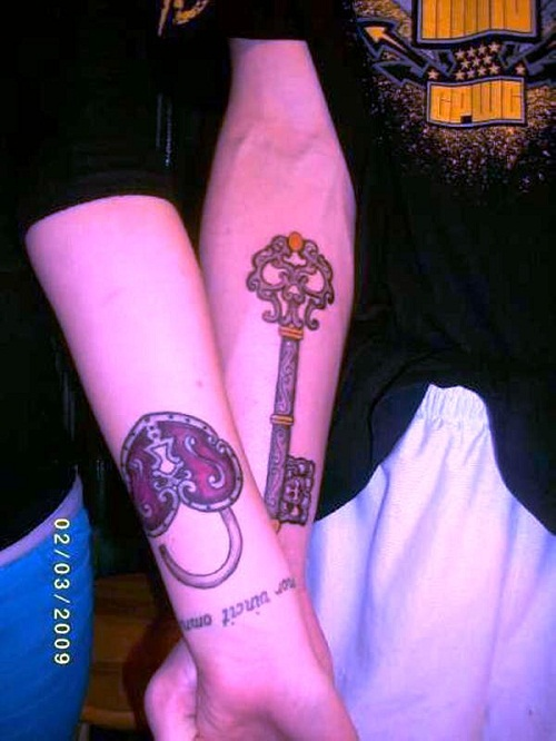 lock-key-tattoo